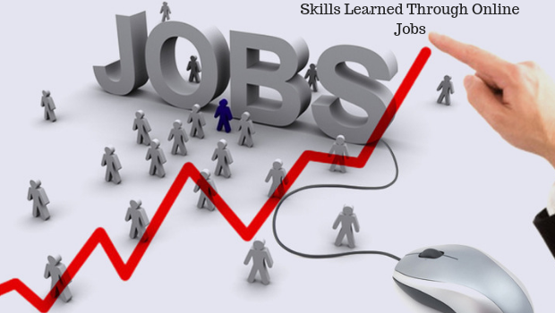 Skills learned through online jobs